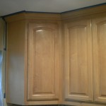 Maple cabinets before varnish and antique