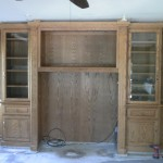 Wood cabinet before removal