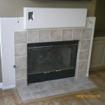 Drywall mantel before