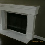 Fireplace mantel after
