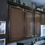 Cabinets after stain and antique