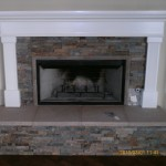 Fireplace mantel with built up hearth