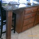 Cabinets painted darker and antiqued