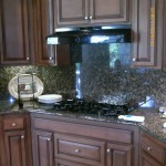 Kitchen cabinets stained darker and antiqued
