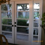 inside french doors inside