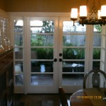 inside french doors after