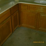 Bath cabinets before