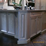 Cabinet before black antiquing