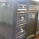 Cabinets after distress and antique
