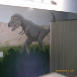 boys bathroom dinosaur
