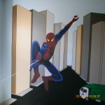 boys bedroom spiderman