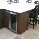 Cabinet and granite built in table