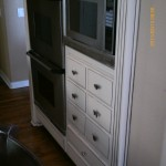 Cabinets painted and antiqued