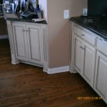 Cabinets after paint and stain antique