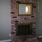 Fireplace mantel before