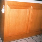 oak cabinets before