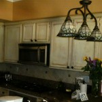 oak kitchen, painted, distressed and antiqued
