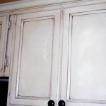 oak cabinets painted with stain accent