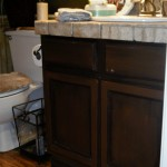 Oak cabinet stained darker and antiqued