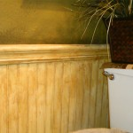 Antique over wainscoting