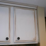 painted cabinet antiqued