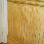 wainscoting with antique finish